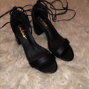 Lulus tie up heel